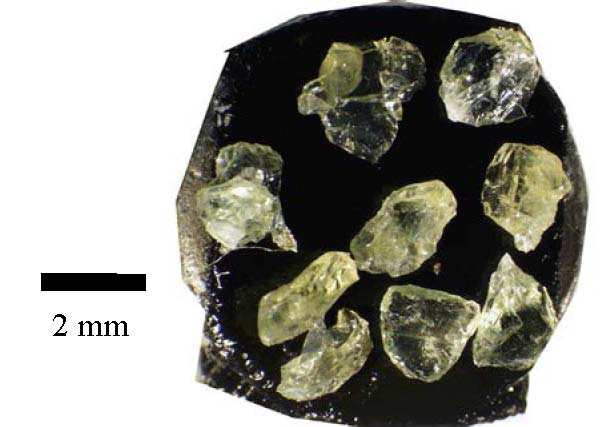 figure 1 general aspect of olivine grains used as precursors in the experiments the original crystals of xenoliths are 24 to 3 mm in length